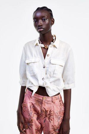 Zara Chemise brute à surpiqûres