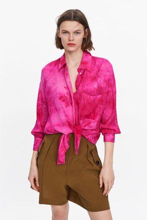 Zara Chemise tie & dye oversize