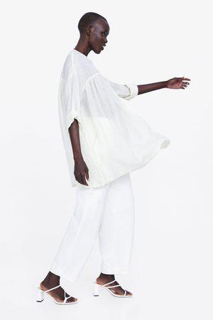 Zara Blouse oversize en lin