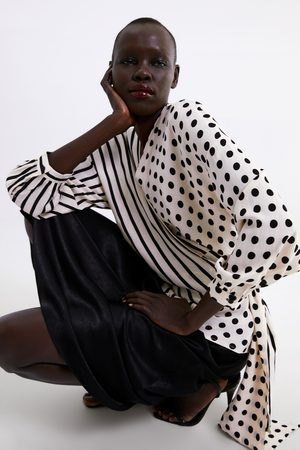 Zara Chemise à imprimé bimatière