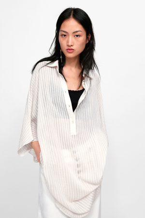 Zara Chemise longue structurée à rayures