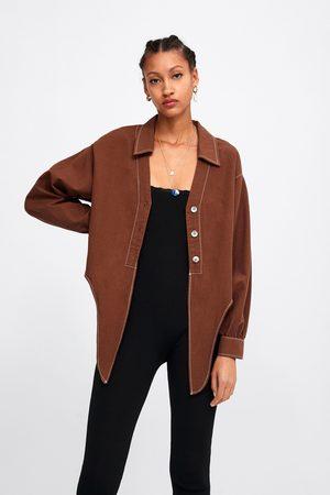 Zara Femme Chemisiers - Chemise courte à boutons