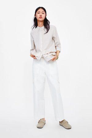 Zara Chemise à rayures et volant