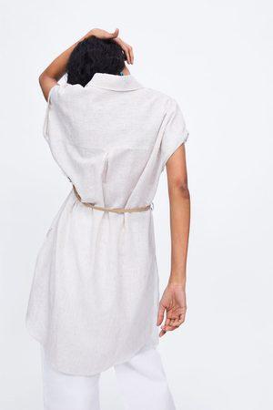 Zara Femme Tuniques - Tunique à rayures avec ceinture