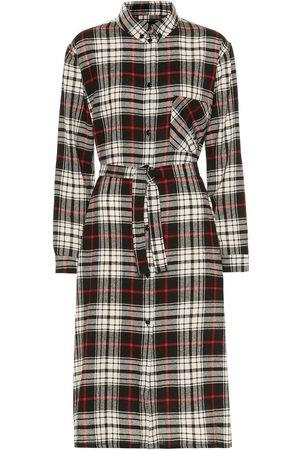 Woolrich Robe chemise en laine mélangée à carreaux