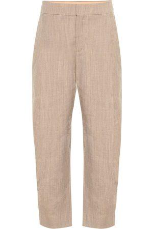 Chloé Pantalon en laine mélangée à taille haute