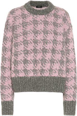 Joseph Femme Pulls - Pull en laine et mohair mélangés à carreaux