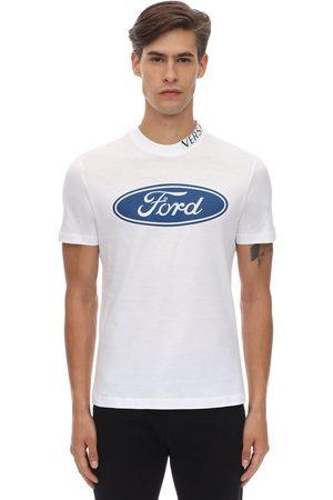 """VERSACE T-shirt En Coton Coupe Cintrée """"ford"""""""