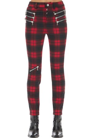 UNRAVEL Pantalon Skinny À Carreaux Avec Zips