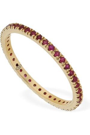 VANZI Femme Bagues - Annagreta Thin 18kt Gold & Ruby Ring
