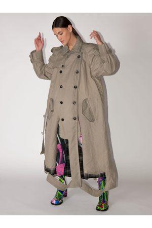 Maison Margiela Long Trench-coat Ajouré En Coton Mélangé
