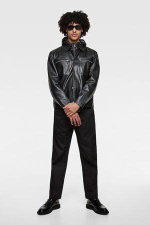 Zara Blouson en cuir à poches