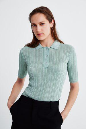 Zara Polo à fil métallisé