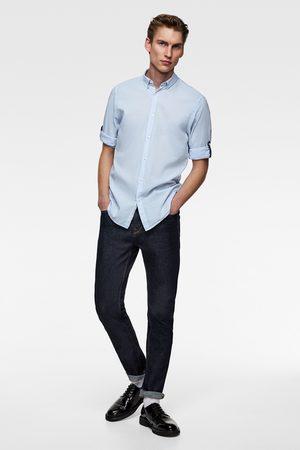 Zara Chemise unie avec manches à patte