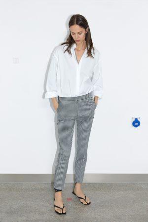 Zara Pantalon de jogging à carreaux vichy