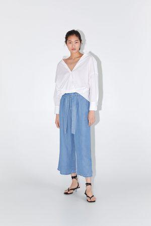 Zara Jupe-culotte à taille plissée