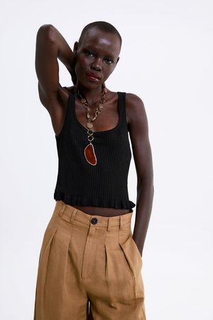 Zara Femme T-shirts - T-shirt court à volant