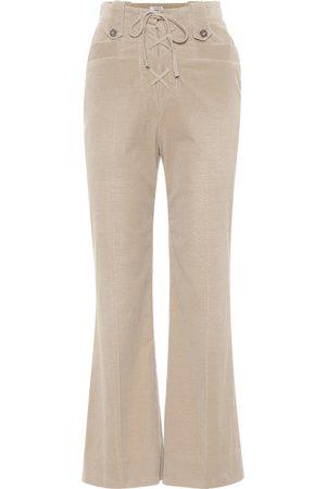 Miu Miu Pantalon évasé en velours de coton