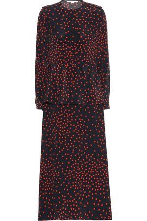 Stella McCartney Robe longue imprimée en soie
