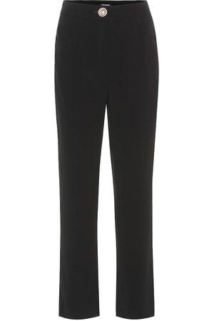 Balmain Pantalon droit en crêpe