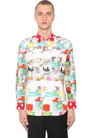 Comme des Garçons Pop Printed Cotton Poplin Shirt