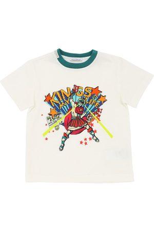 "Dolce & Gabbana T-shirt En Jersey De Coton Imprimé ""hero"""