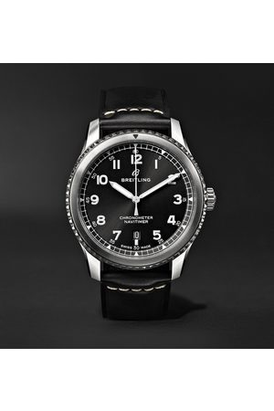 Breitling Navitimer 8 Automatic 41mm Steel And Leather Watch