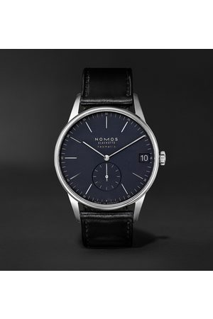 Nomos Glashütte Orion Neomatik Datum Automatic 41mm Stainless Steel And Cordovan Leather Watch