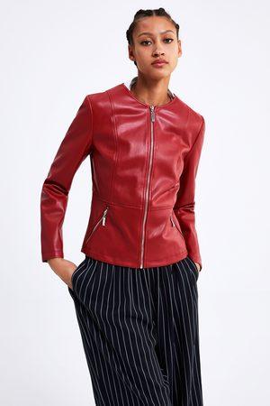 Acheter Vestes en cuir femme Zara en Ligne |