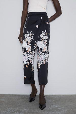 Zara Pantalon fluide imprimé