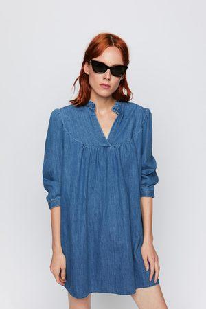 Zara Robe courte en jean