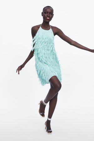 Zara Robe courte à franges