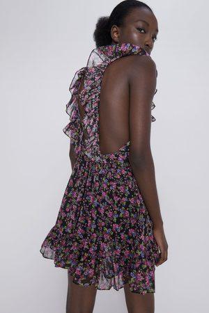 Zara Robe à imprimé floral et volants