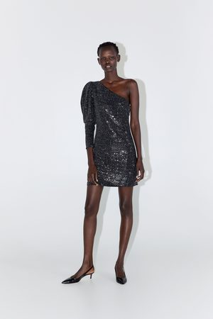 Zara Robe asymétrique à paillettes