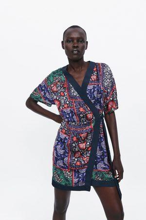 Zara Robe imprimée à noeud
