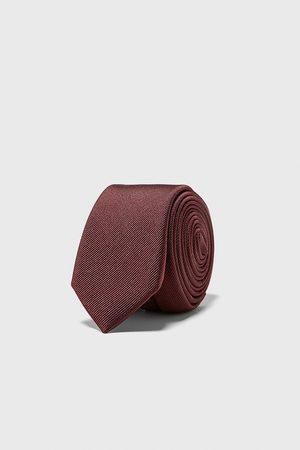 Zara Cravate slim en ottoman