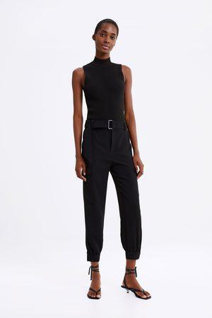 Zara Pantalon cargo avec ceinture