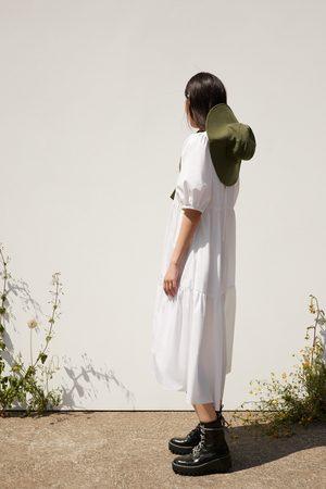 Zara Robe asymétrique en popeline