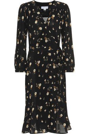 Velvet Robe portefeuille Jasmine imprimée