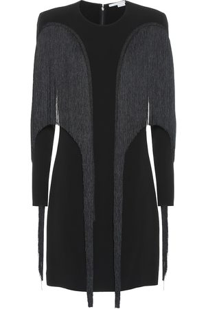 Stella McCartney Robe en crêpe à franges