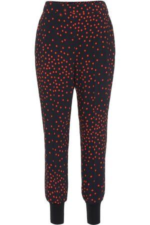 Stella McCartney Pantalon imprimé en crêpe