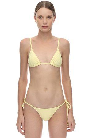 "Peony Haut De Bikini Triangle Nervuré ""banana"""