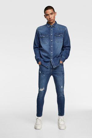 Zara Homme Pantalons Slim & Skinny - Jean skinny cropped