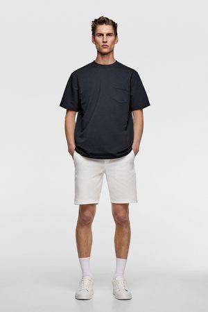Zara Homme Bermudas - Short en piqué avec contraste