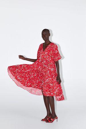 Zara Robe mi-longue à imprimé floral