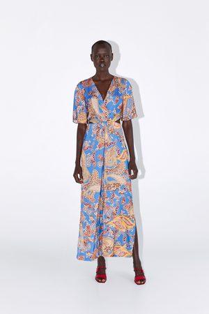 Zara Combinaison imprimée à fentes