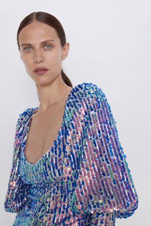 Zara Robe courte à paillettes édition limitée