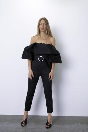Zara Combinaison à volant et ceinture