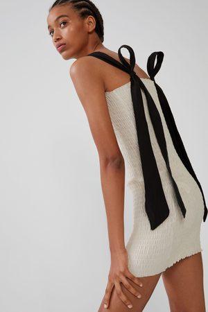 Zara Robe élastique à nœud