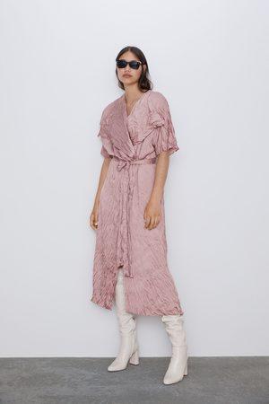 Zara Creased-effect dress